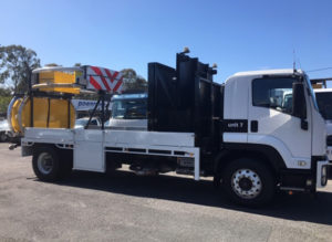 Trafquip equipment hire | scorpion TMA side view