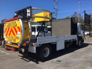 Trafquip equipment hire | scorpion tma back view