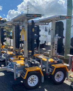 Portable traffic light for hire | Trafquip